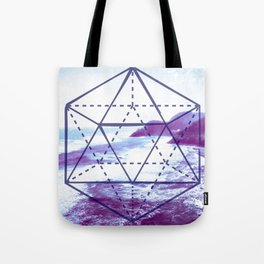 The Elements Geometric Nature Element of Water Tote Bag