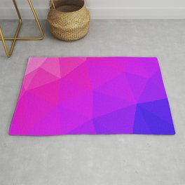 Magenta and Violet Low Poly Pattern Rug