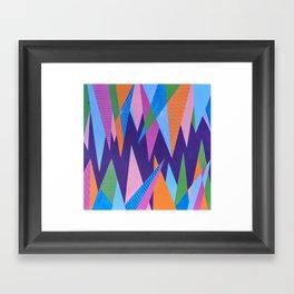 Crystal Stalagmites Framed Art Print