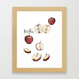 Apple Slices Framed Art Print