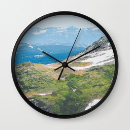 Alpine Mosses Wall Clock