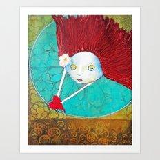 Angel With Heart Art Print