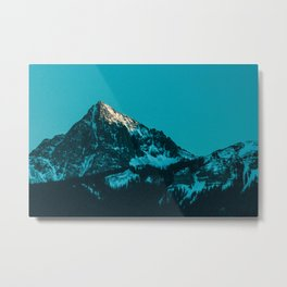 rocky mountain colorado last light Metal Print