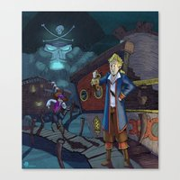 monkey island Canvas Prints featuring Monkey Island - THINK by Gromy