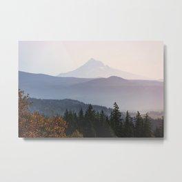 Mount Hood over the Columbia River Gorge Metal Print