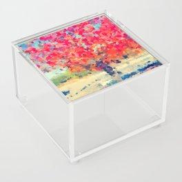 Orange Tree Watercolor digital Acrylic Box