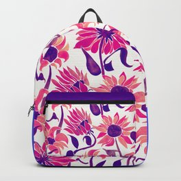 Sunflower Watercolor – Pink & Purple Palette Backpack