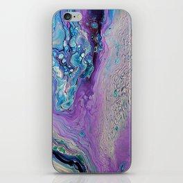 Purple Fluid Acrylic Abstract Painting - Slow Down  III iPhone Skin