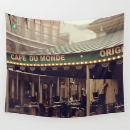 Foggy Cafe Du Monde Wall Tapestry