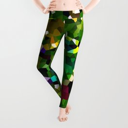 Pineapple Abstract Geometric Leggings