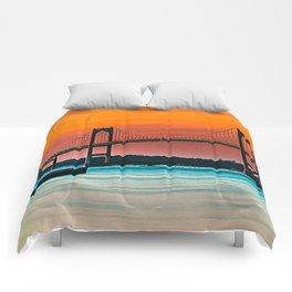 Newport Bridge - Newport, Rhode Island - Conanicut Island Sunset Comforters