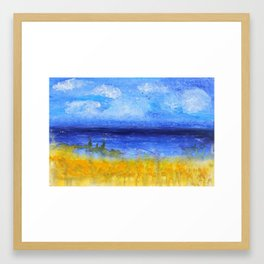 Sand Dune Seas - Seaside Collection by Janet Watson Art Framed Art Print