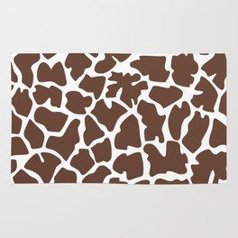 Animal Print (Giraffe Pattern) - Brown White Rug