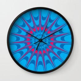 Psychedelic Burst Wall Clock