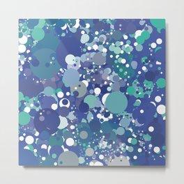Green Blue White Metal Print
