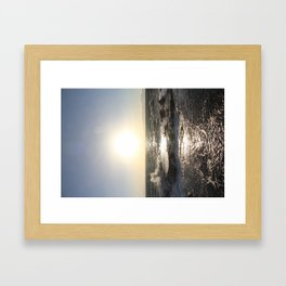 The Tide Comes in on Enoshima Island Framed Art Print