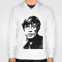 stephen king Hoodies featuring Stephen Hawking by Silvio Ledbetter