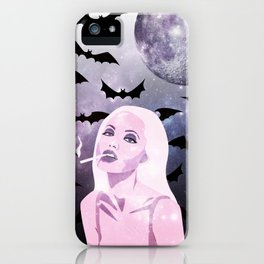 Angelina Jolie Moon Shine Bats Stars iPhone Case