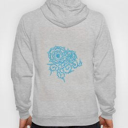 46. Thorns, Thistles, Nettles in Blue with Henna Rosa Hoody