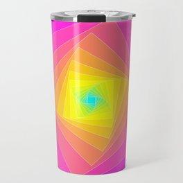 Magenta, Yellow, and Cyan Squares Travel Mug
