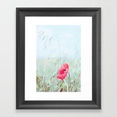 Thoughtful Poppy Framed Art Print