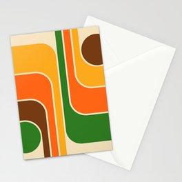 Retro Geometric Design 722 Stationery Cards