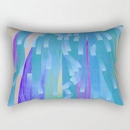 Showers of Blue Rectangular Pillow