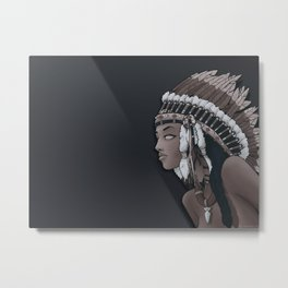 Head-dress Metal Print