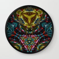 dress Wall Clocks featuring Dress by RingWaveArt