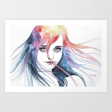 Changing colors Art Print
