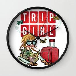 Trip Girl Wall Clock