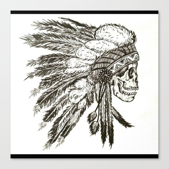 Native Skull Canvas Print