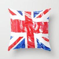 uk Throw Pillows featuring UK by arnedayan