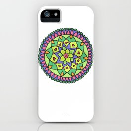 Bright colors mandala iPhone Case