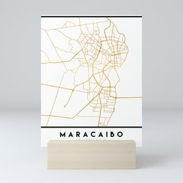 MARACAIBO VENEZUELA CITY STREET MAP ART Mini Art Print