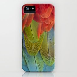Macaw Feathers. iPhone Case