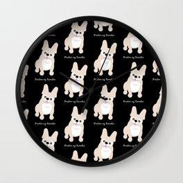 Pardon My Frenchie French Bulldog Wall Clock
