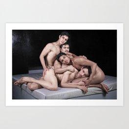 Cuatro pieles Art Print
