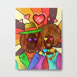 70's Love Metal Print