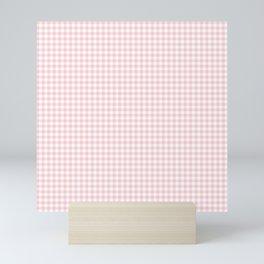Small Blush Pink Valentine Pale Pink and White Buffalo Check Plaid Mini Art Print