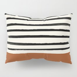 Burnt Orange x Stripes Pillow Sham