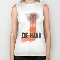 die hard Biker Tanks featuring Die Hard by Wharton