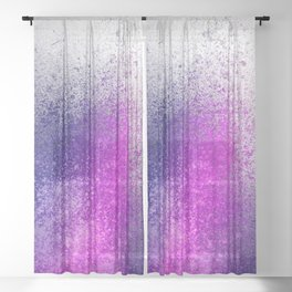 Hot Pink and Purple Paint Splatter Sheer Curtain