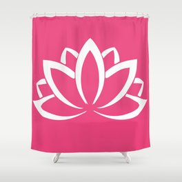 The white lotus Shower Curtain