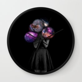 space balloons Wall Clock