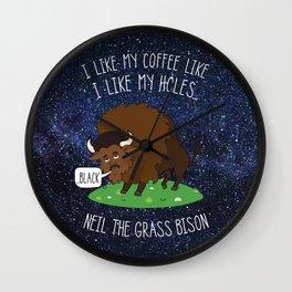 Neil deGrasse Tyson Wall Clock
