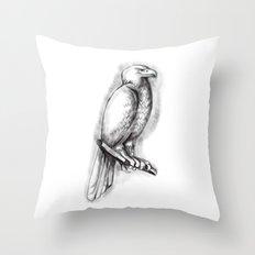 Australian Wedge-tailed Eagle Perch Tattoo Throw Pillow