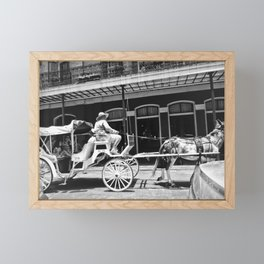 Mule Drawn Carriage Framed Mini Art Print