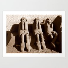 Speak No Evil, See No Evil, Hear No Evil Art Print