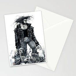 Logan watercolor by Roger Cruz Stationery Cards